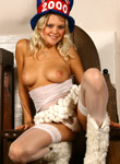 Fun With Amber: Amber posing in white nylons
