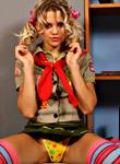 FunWithAmber: Military girl Amber strips